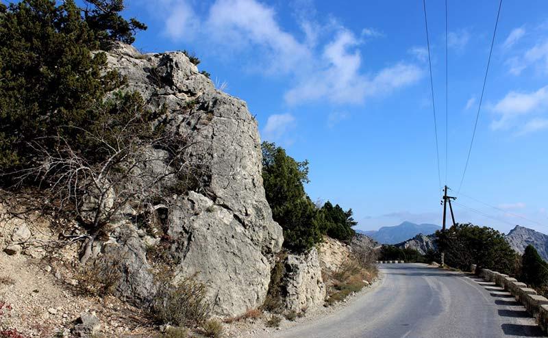 дорога из Симферополя в Судак