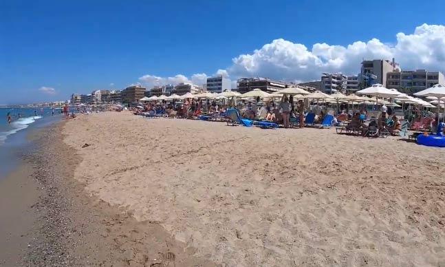 пляж Ретимно на Крите